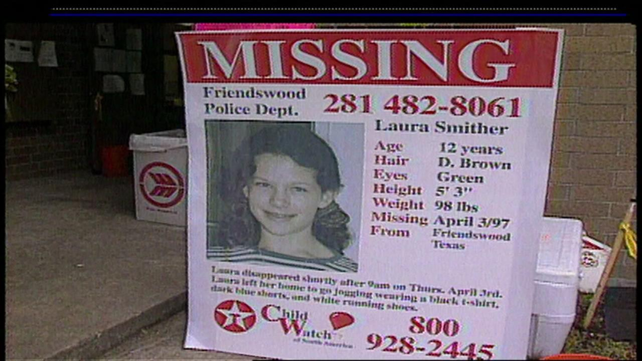 Laura Smither Missing flyers were posted throughout Friendswood and the Houston community