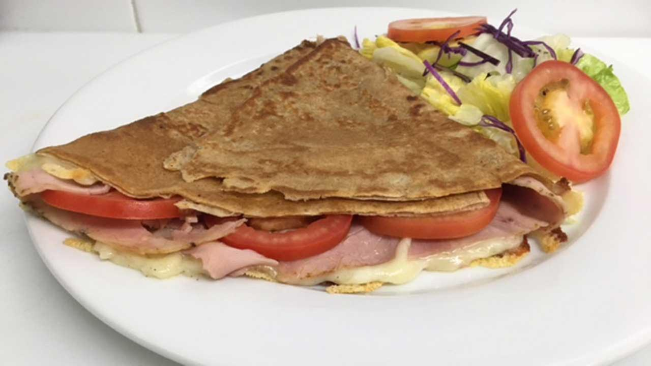 Ham and Cheese crepe at Flo Paris, Cost: $8