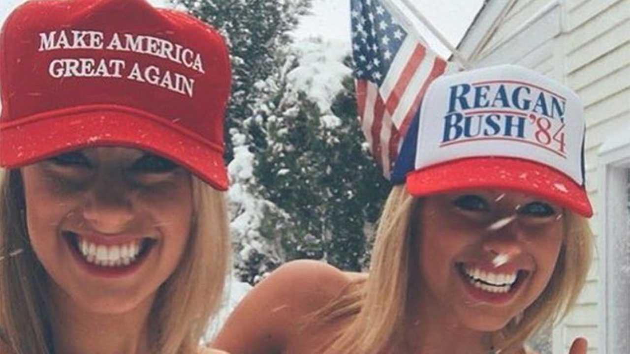 Pro-Trump twitter account features female supporters showing some skin