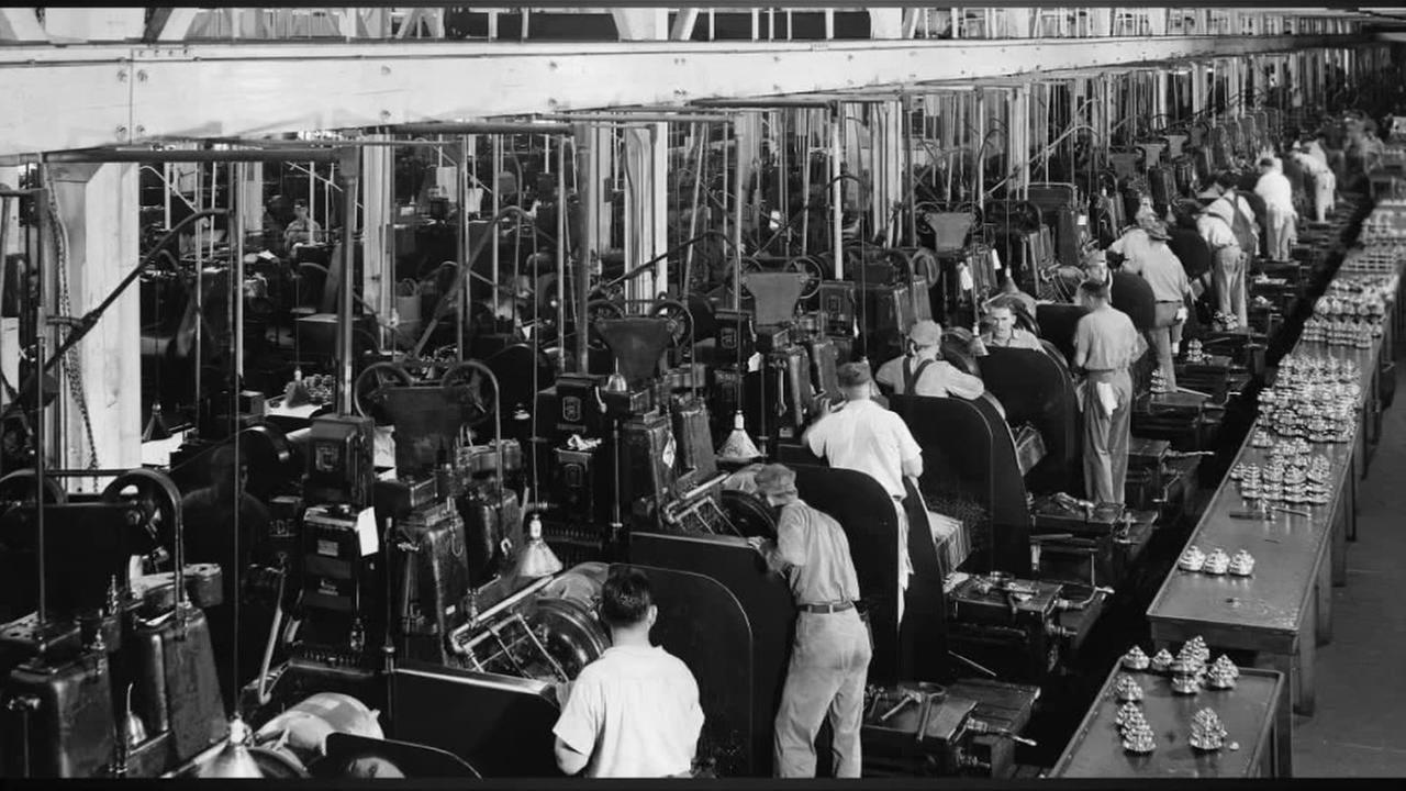 Hughes Tools assembly line. Photo: Houston Public Library-HMRC