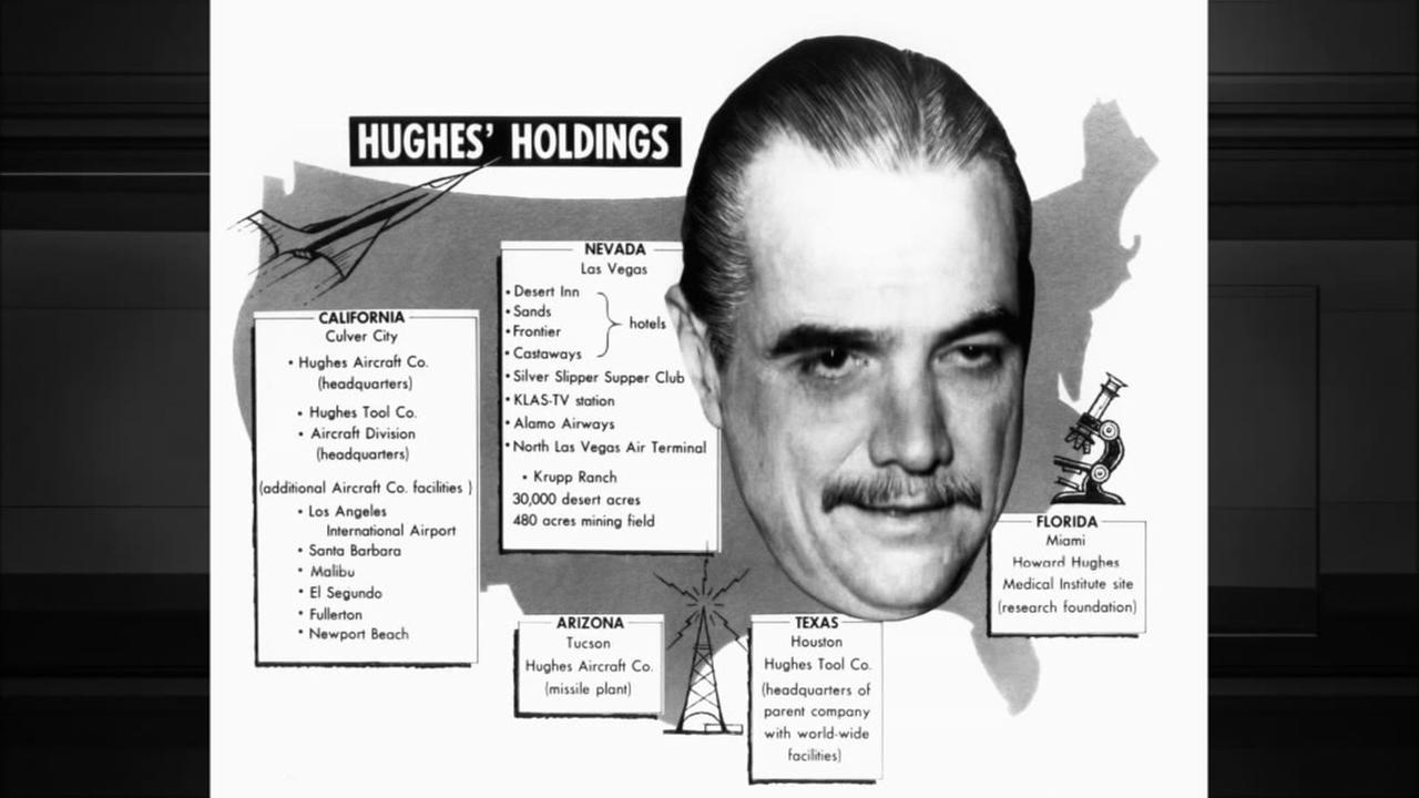 Graphic of Howard Hughes holdings. Photo:AP