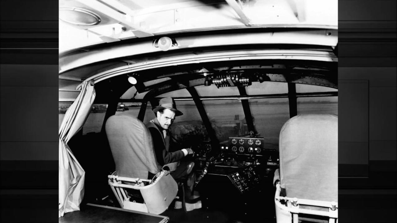 Hughes in cockpit of Spruce Goose.Photo:AP