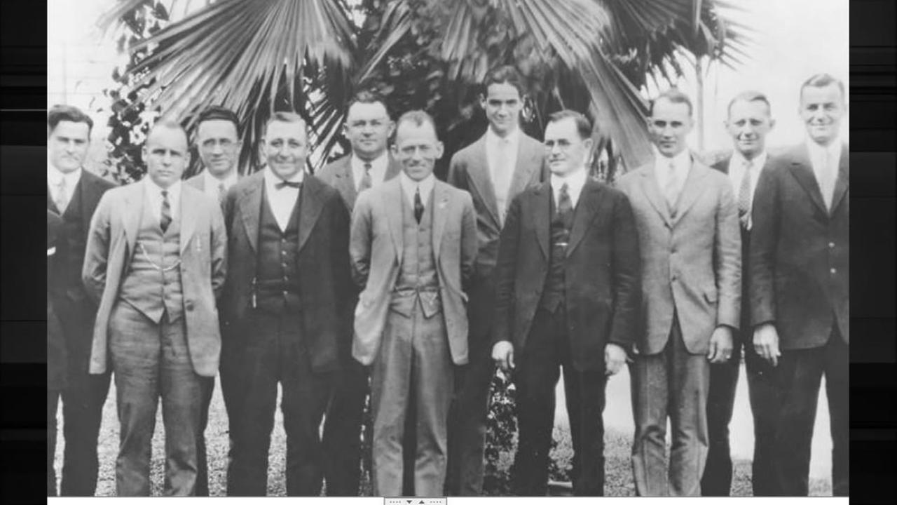 Howard Hughes with first sales team of Hughes Tools. Photo: Houston Public Library-HMRC