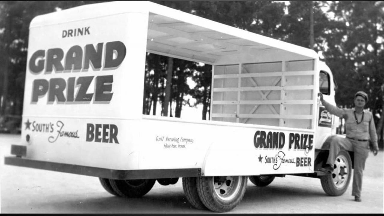 A beer truck from Grand Prize brewery, a holding of Howard Hughes. Photo: Houston Public Library-HMRC