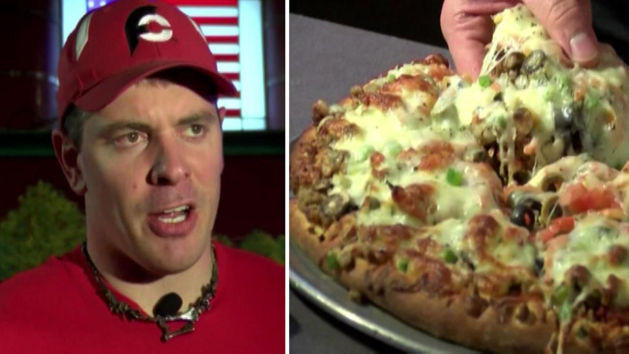 8-lb. pizza
