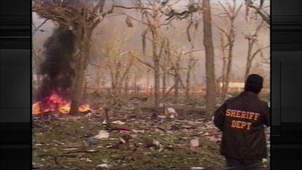 KTRK coverage of salt dome explosion near Brenham in 1992
