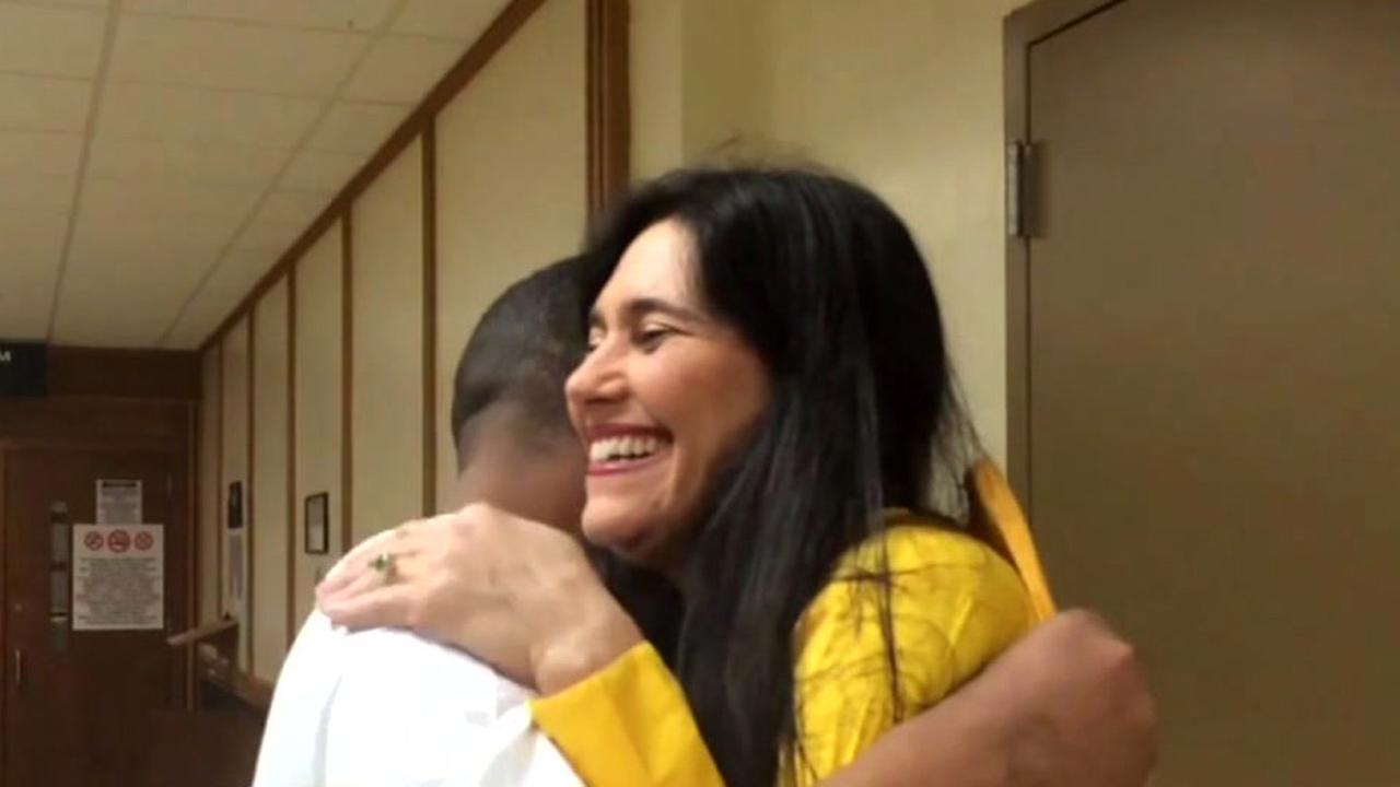 Florida judge hugs burglary suspect