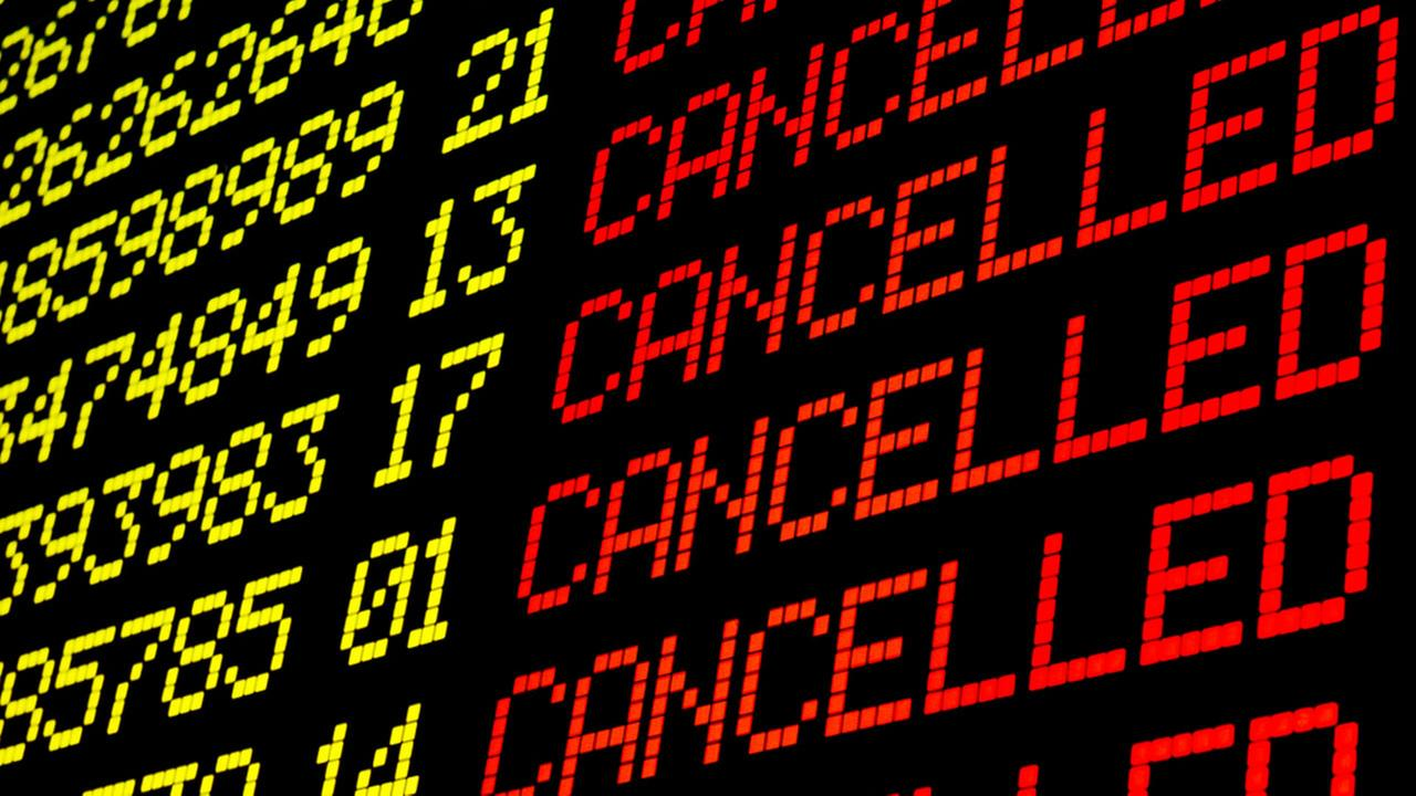 Houston-area weekend cancellations and delays