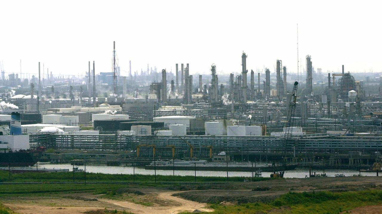 Refineries along the Houston Ship Channel are shown Wednesday, May 16, 2001 in Houston.