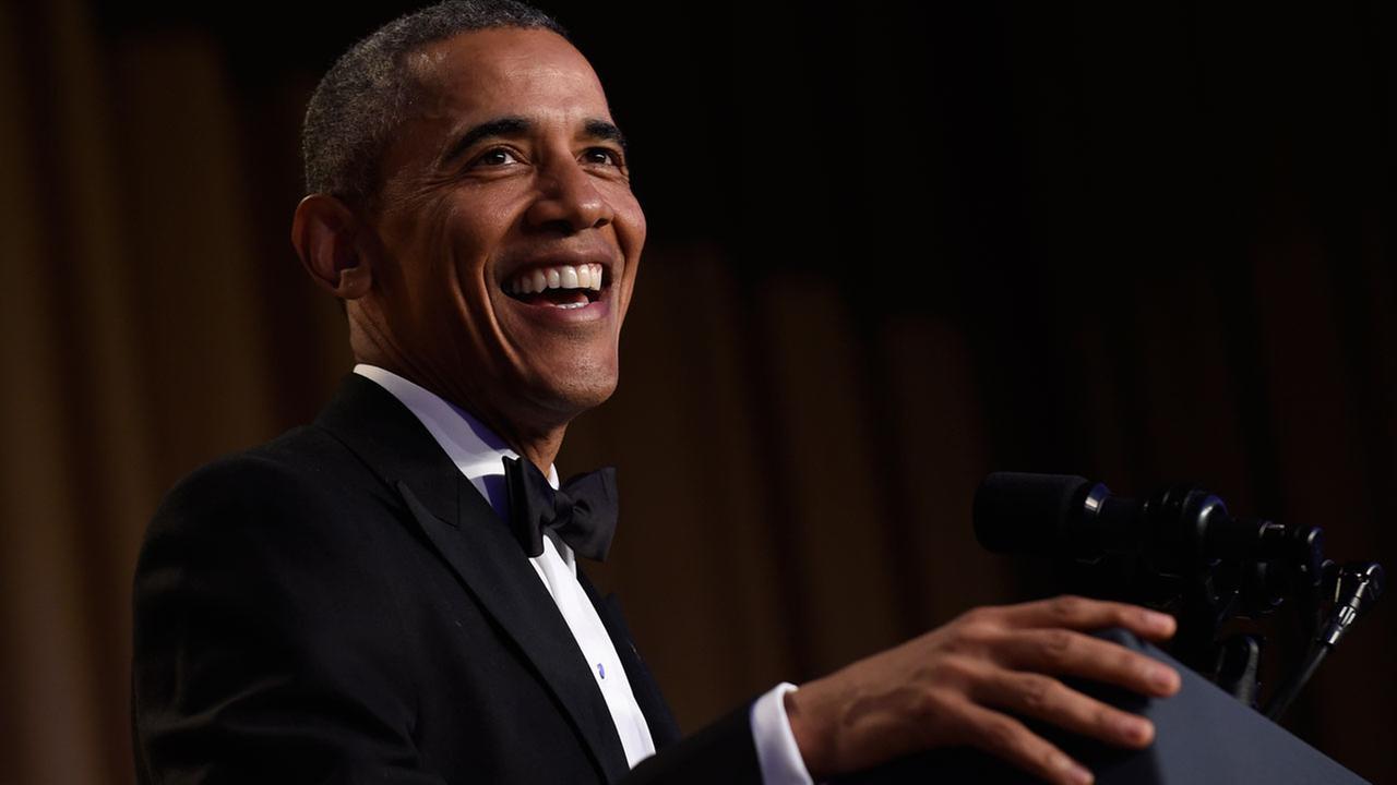 President Barack Obama speaks at the annual White House Correspondents Association dinner at the Washington Hilton.