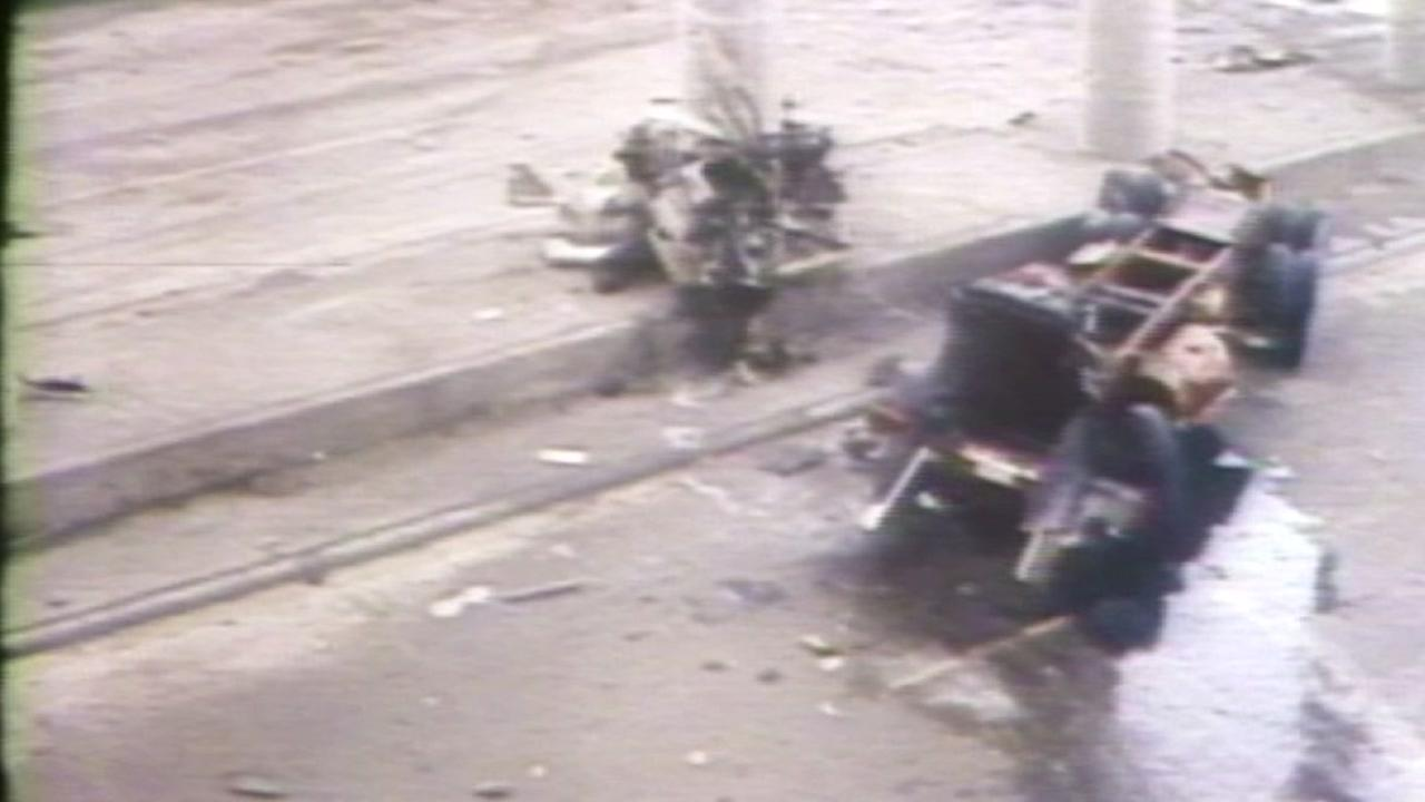 The ammonia truck plummeted 25 feet from the 610 ramp to the Southwest Frwy