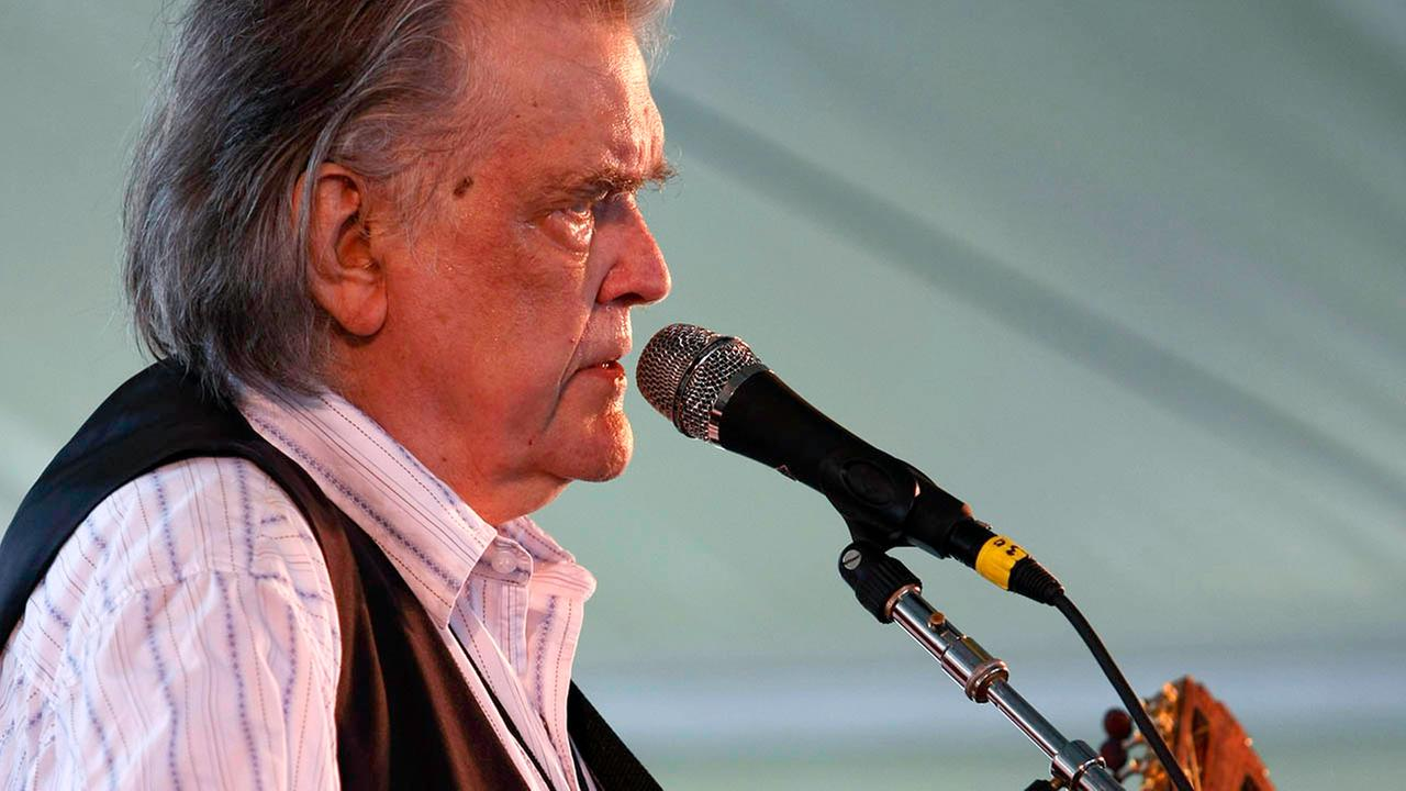 Guy Clark performs at George Weins Newport Folk 50 in Newport, R.I. on Sunday, Aug 2, 2009. (AP Photo/Joe Giblin)