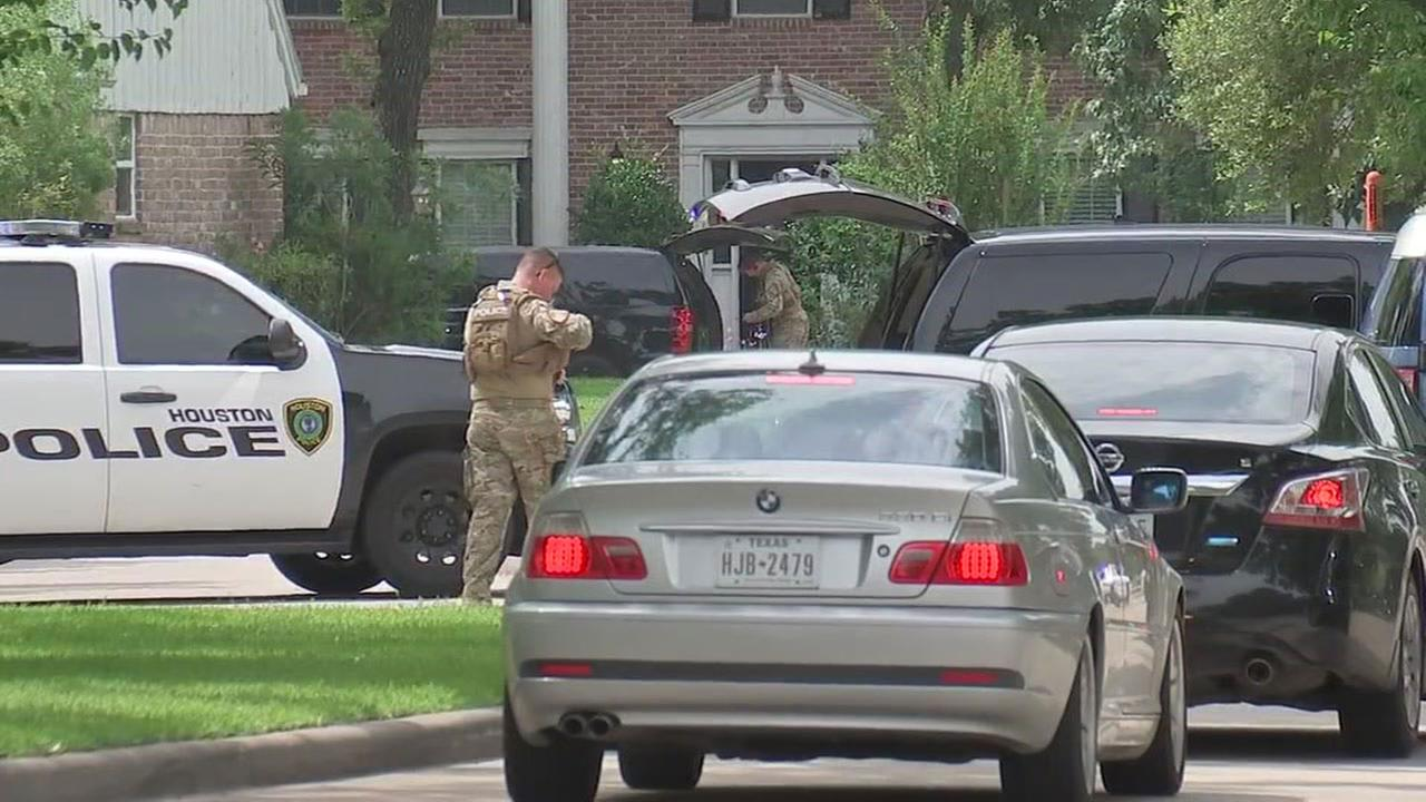 Images from deadly shootout in west Houston