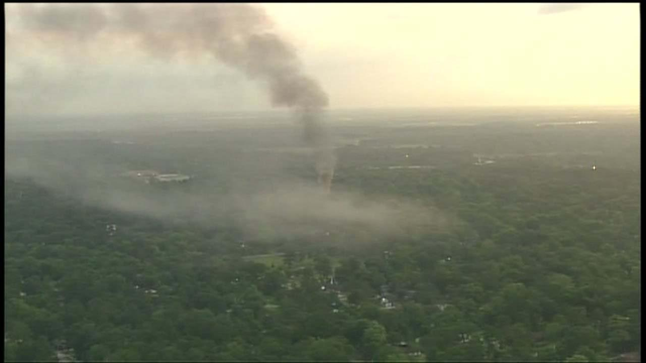Sky Eye coverage of north Houston explosion