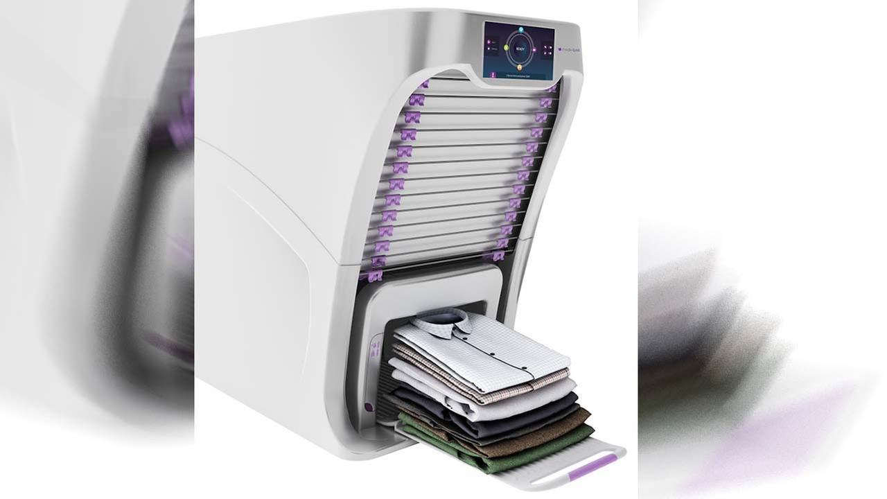 Amazing machine will fold your laundry and even steam out creases