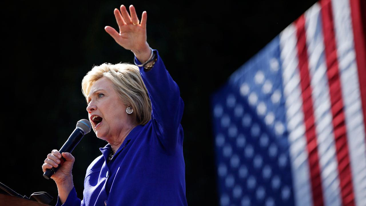 Democratic presidential candidate Hillary Clinton speaks at a rally, Monday, June 6, 2016, in Los Angeles.