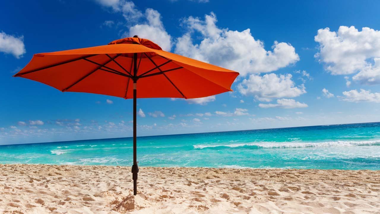 Stock image of a beach umbrella