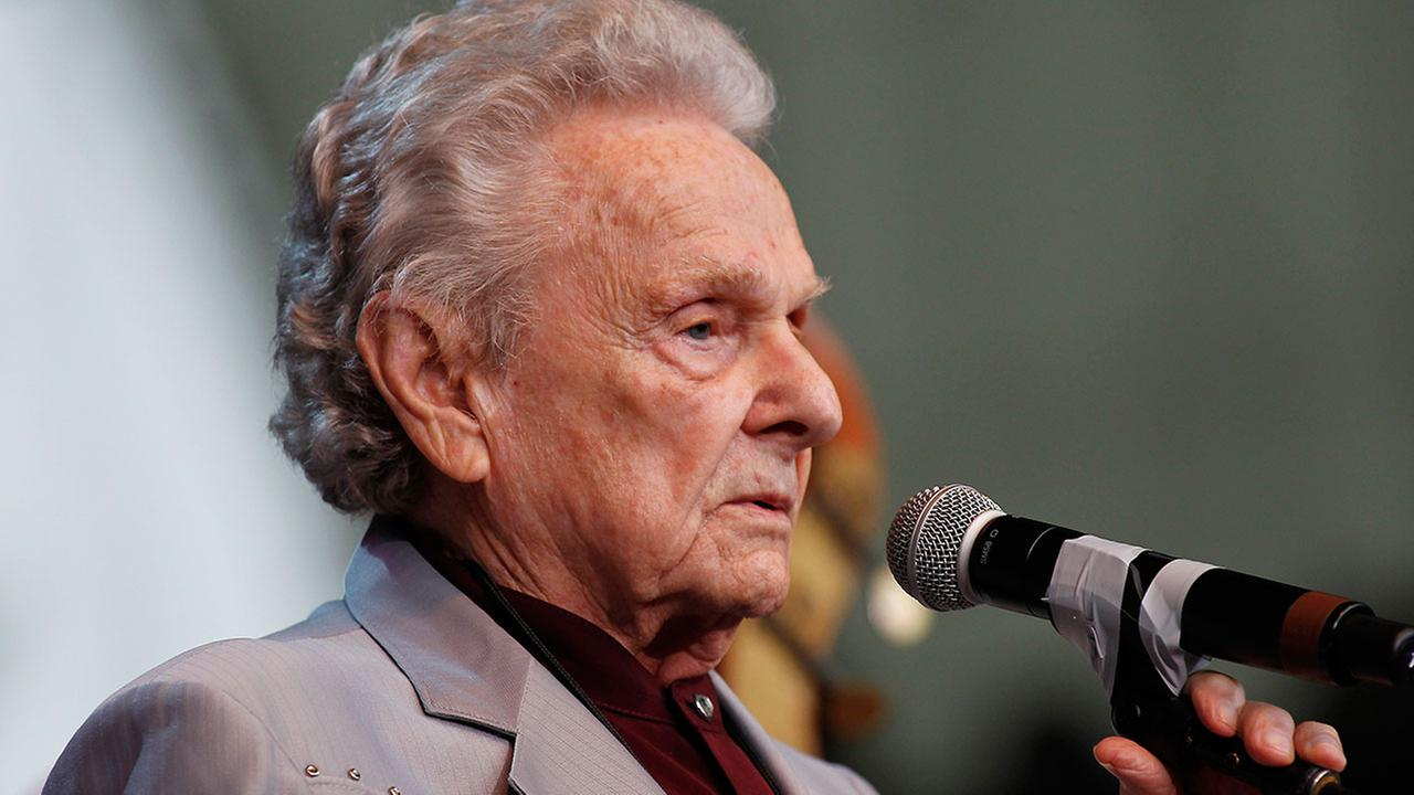 Ralph Stanley performs during the Bridge School Benefit concert in Mountain View, Calif., Sunday, Oct. 24, 201