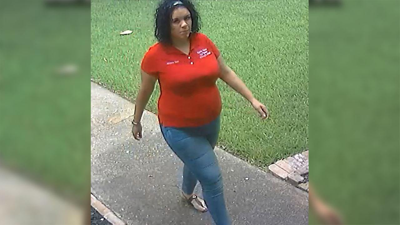 Video allegedly shows woman steal package in Jersey Village