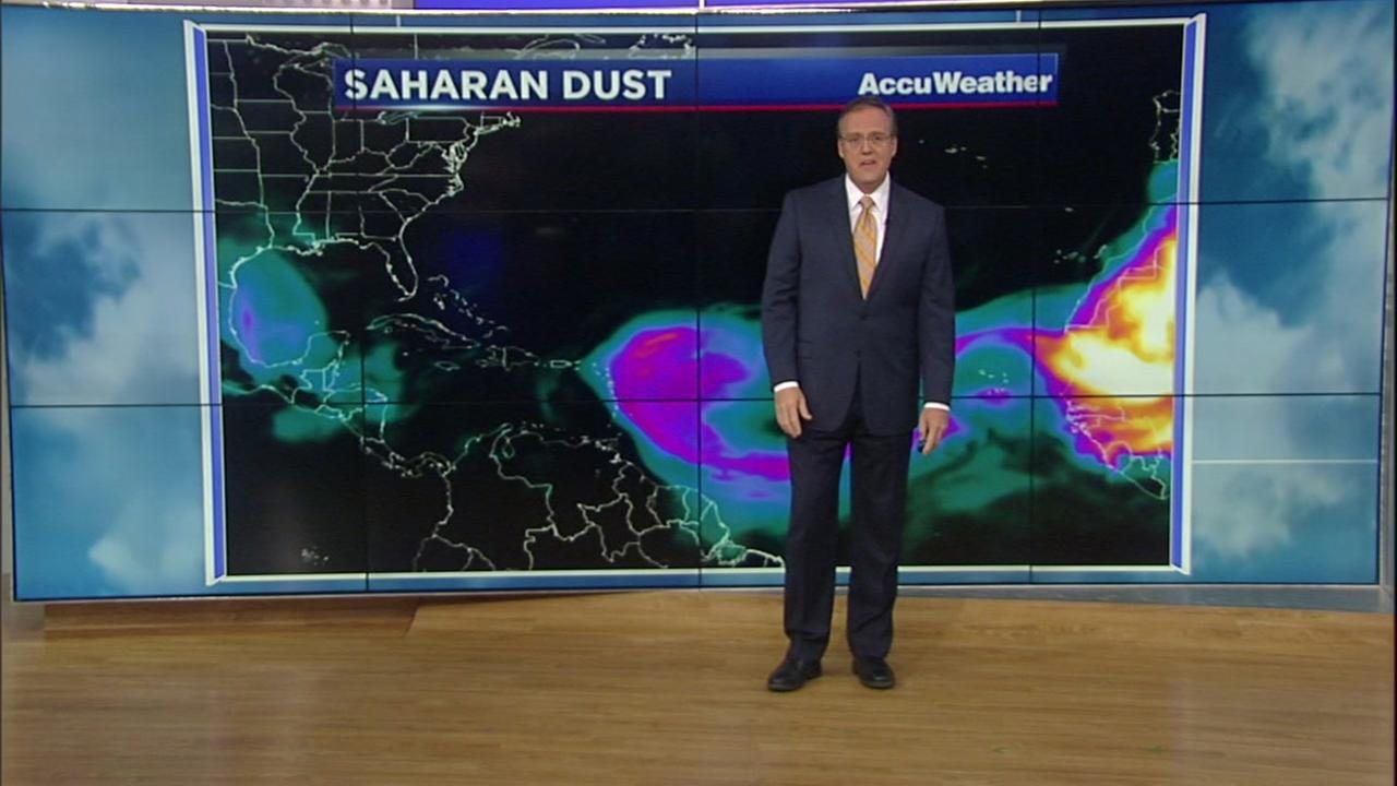 The dust that travels from the Sahara Desert to the Houston area