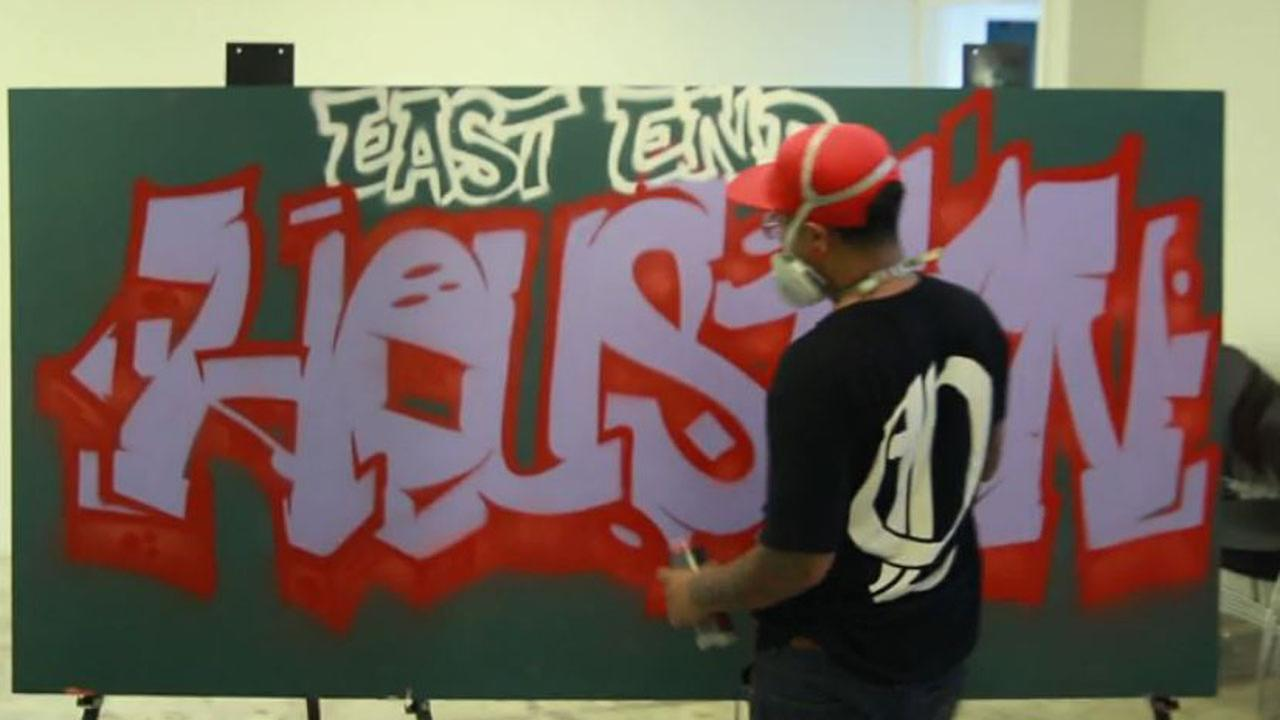 Graffiti Artist Gonzo at East End Foundation Silent Auction