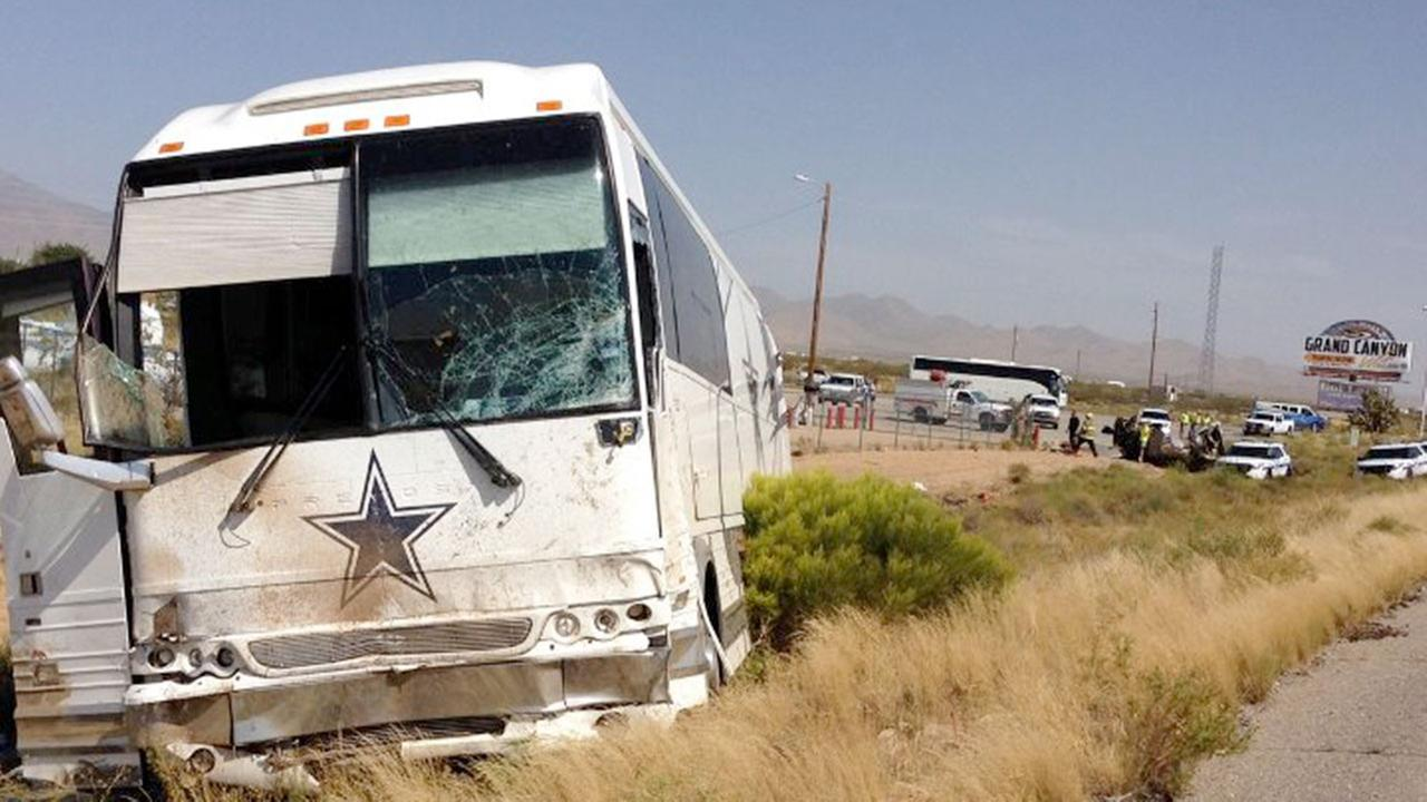 A Dallas Cowboys bus was involved in a fatal crash