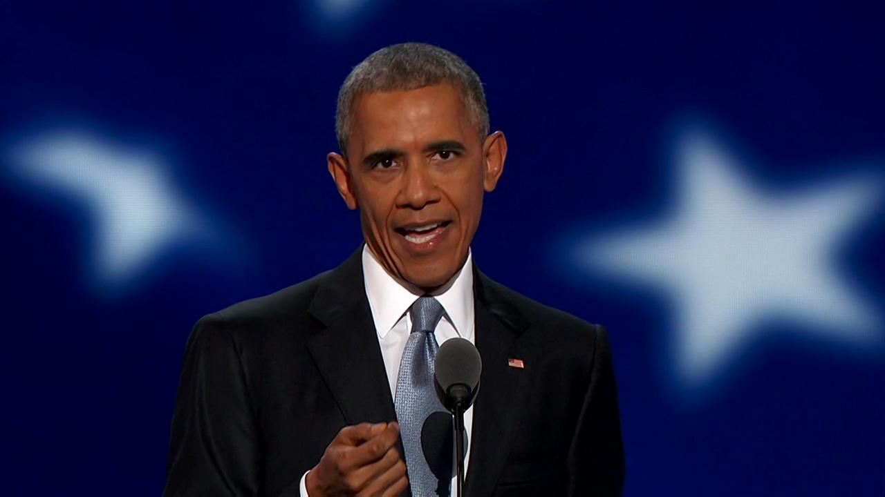 Obama lends support to Clinton at DNC