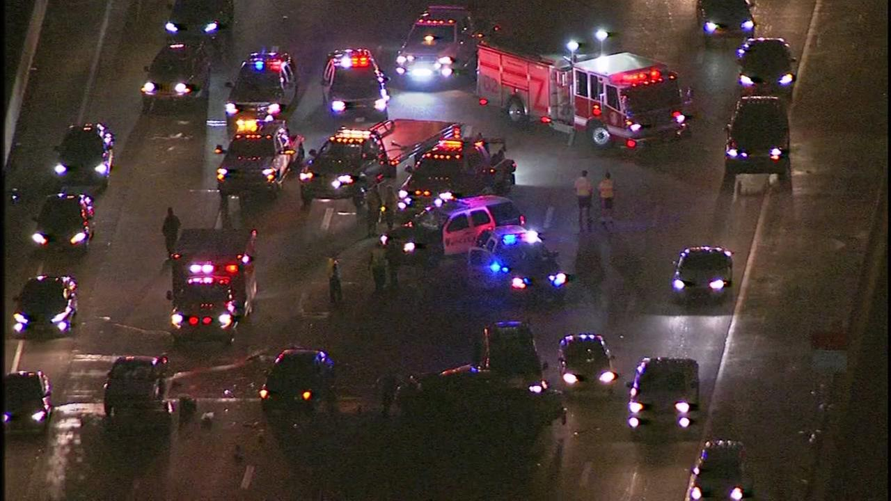 Multi-car accident on W Loop SB at Memorial