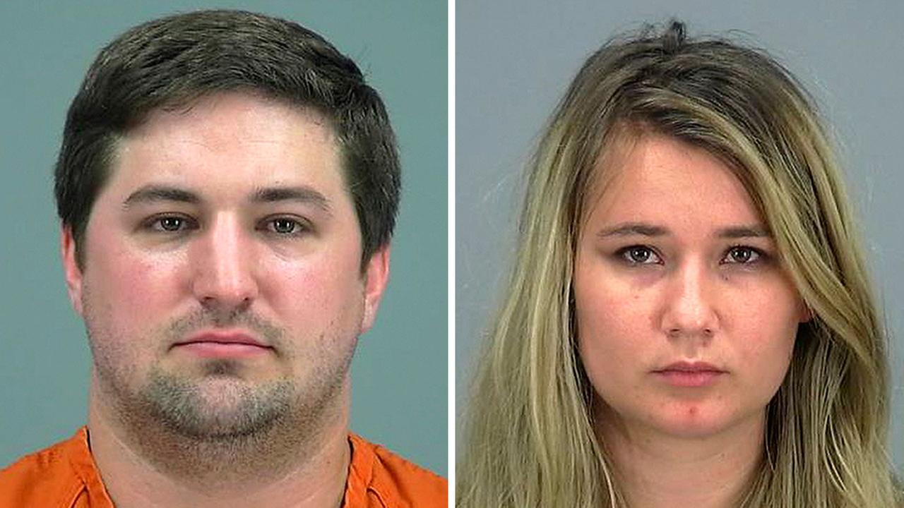 The Pinal County Sheriffs Office says the two were arrested after a neighbor found their boy barefoot and crying outside the couples home in a southeastern Phoenix suburb.
