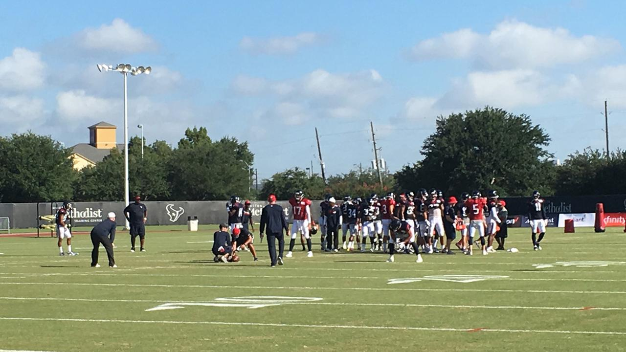 Texans practice scheduled for Wednesday now closed to the public