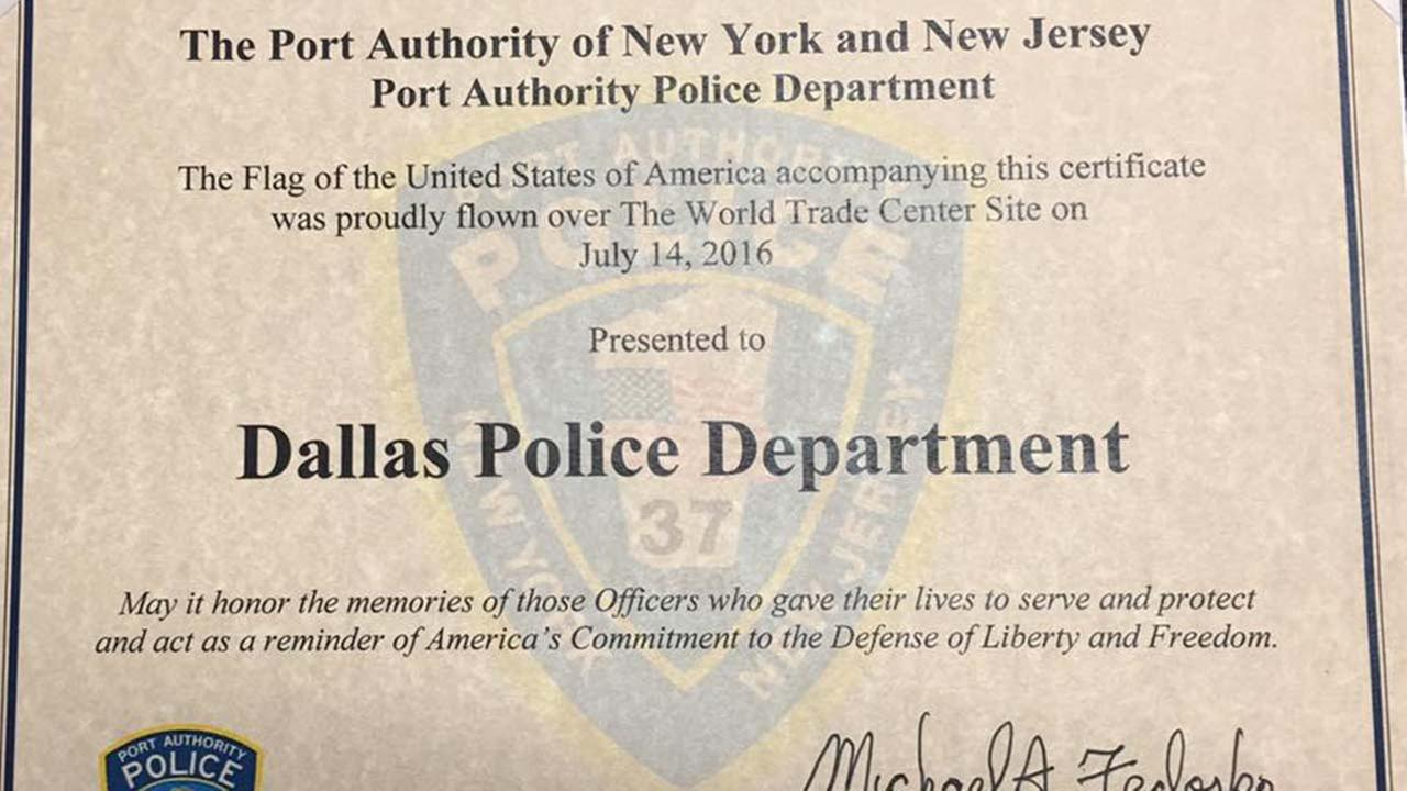 Dallas Police Department gets heartfelt gift from NY/NJ cops