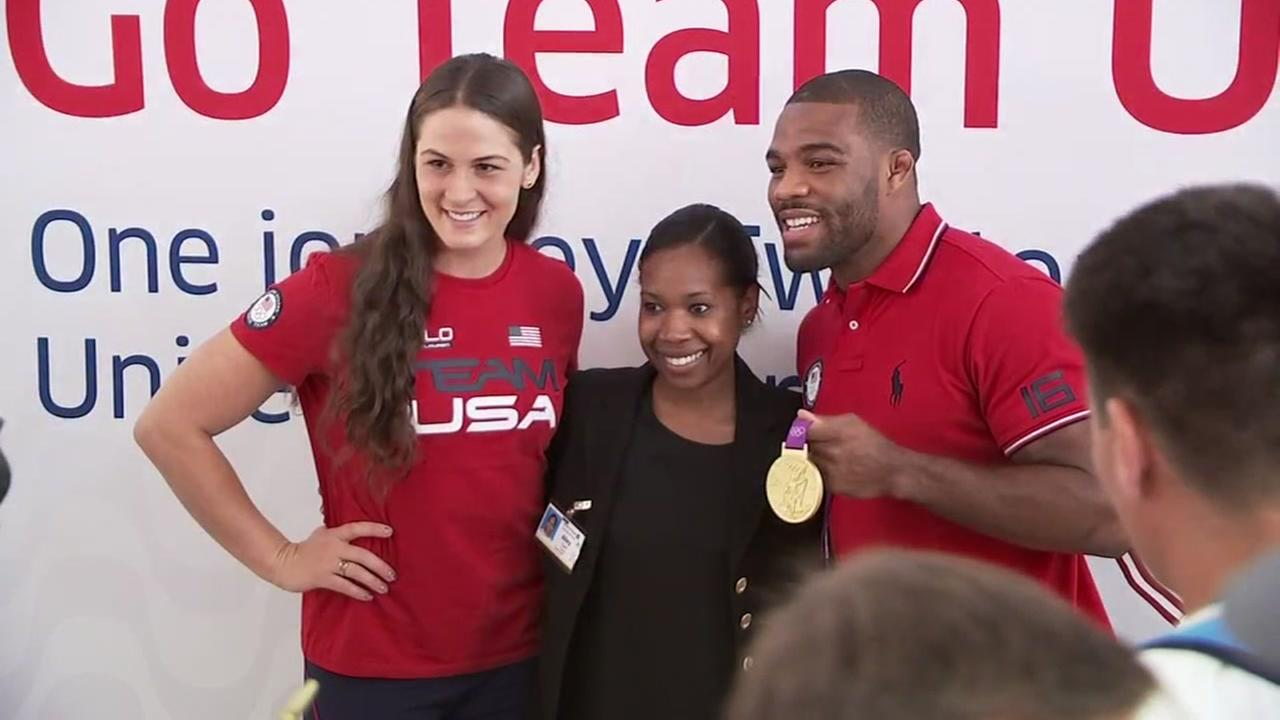 Olympic athletes pass through IAH on the way to the Rio