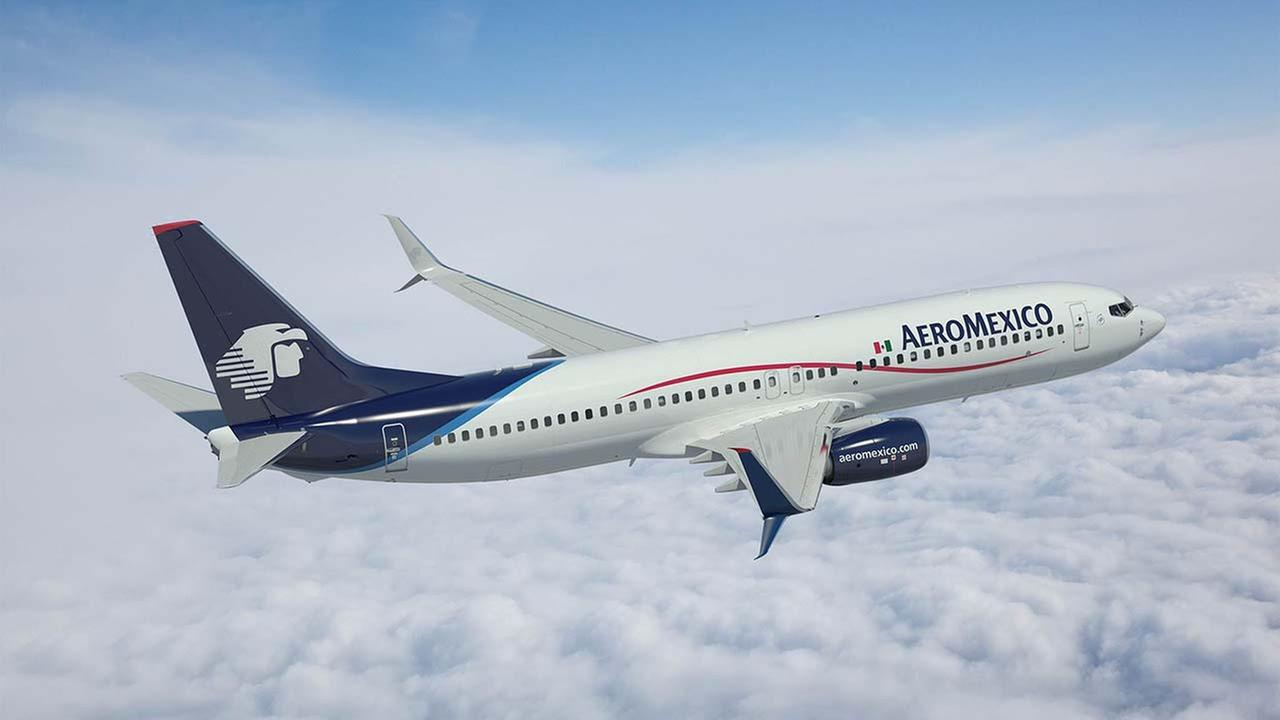 Rendering of Aeromexico 737-800 with Split Scimitar Winglets
