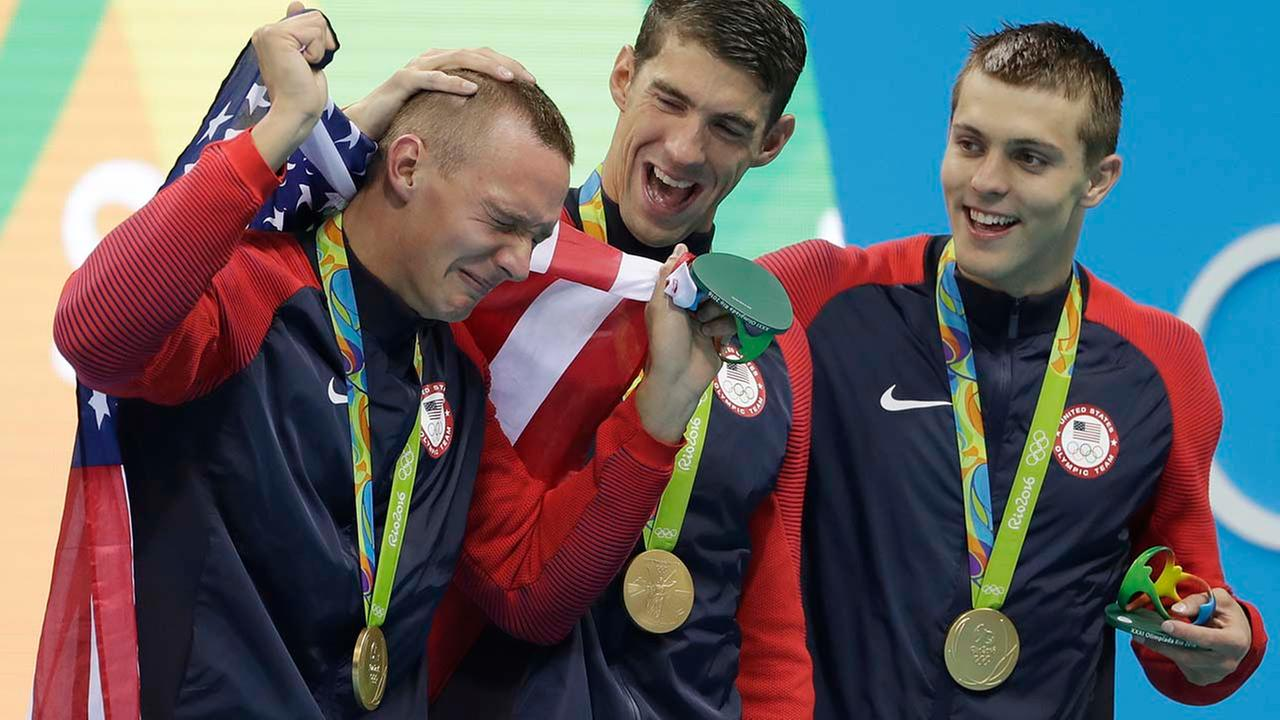 US swimmers get emotional at Rio Games