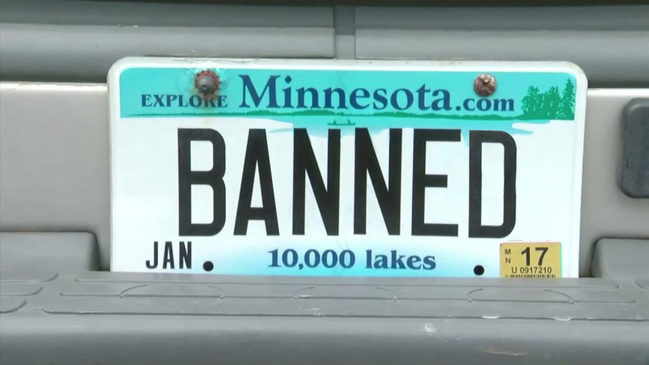 Banned license plates in Minnesota
