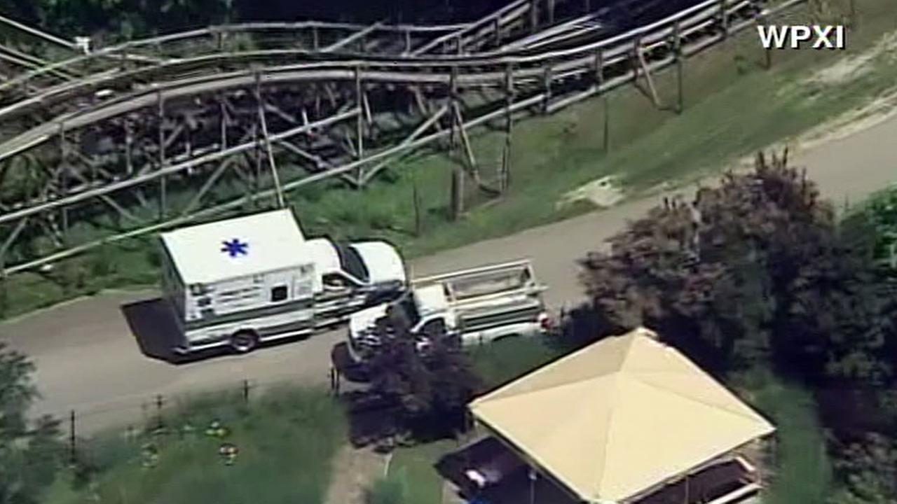 Boy airlifted after fall from roller coaster outside Pittsburgh
