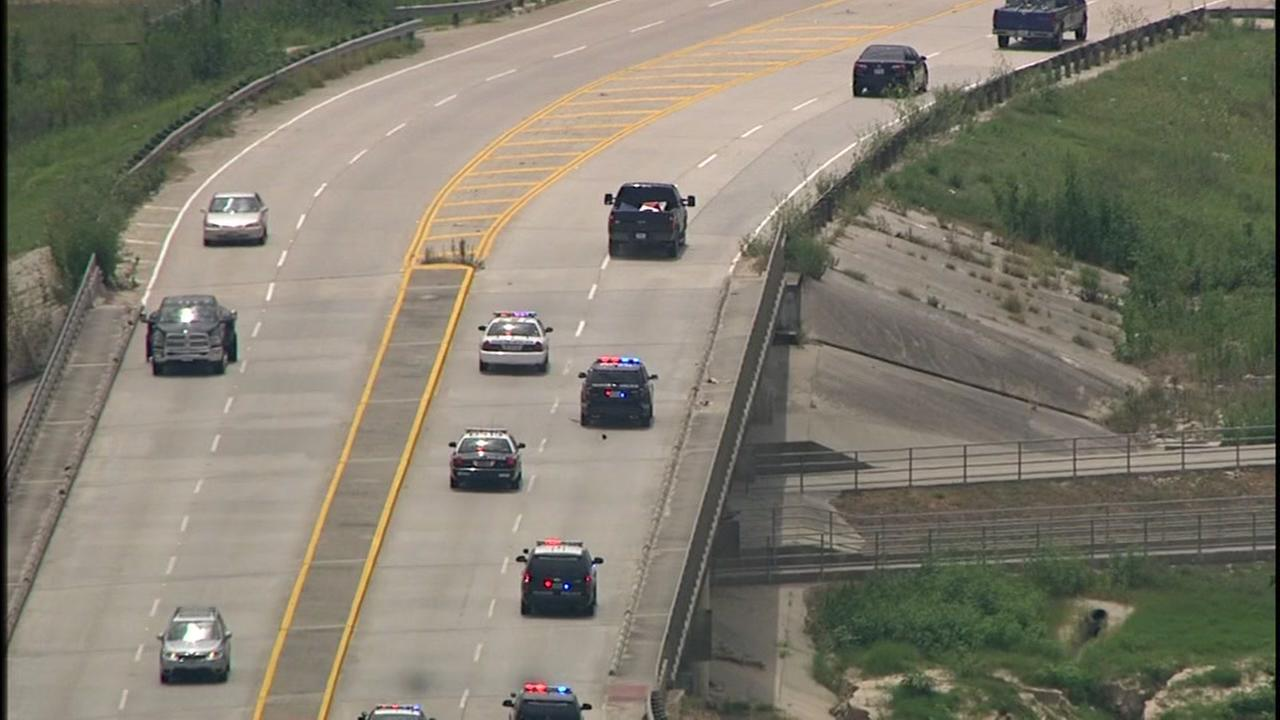 Police chase in west Houston