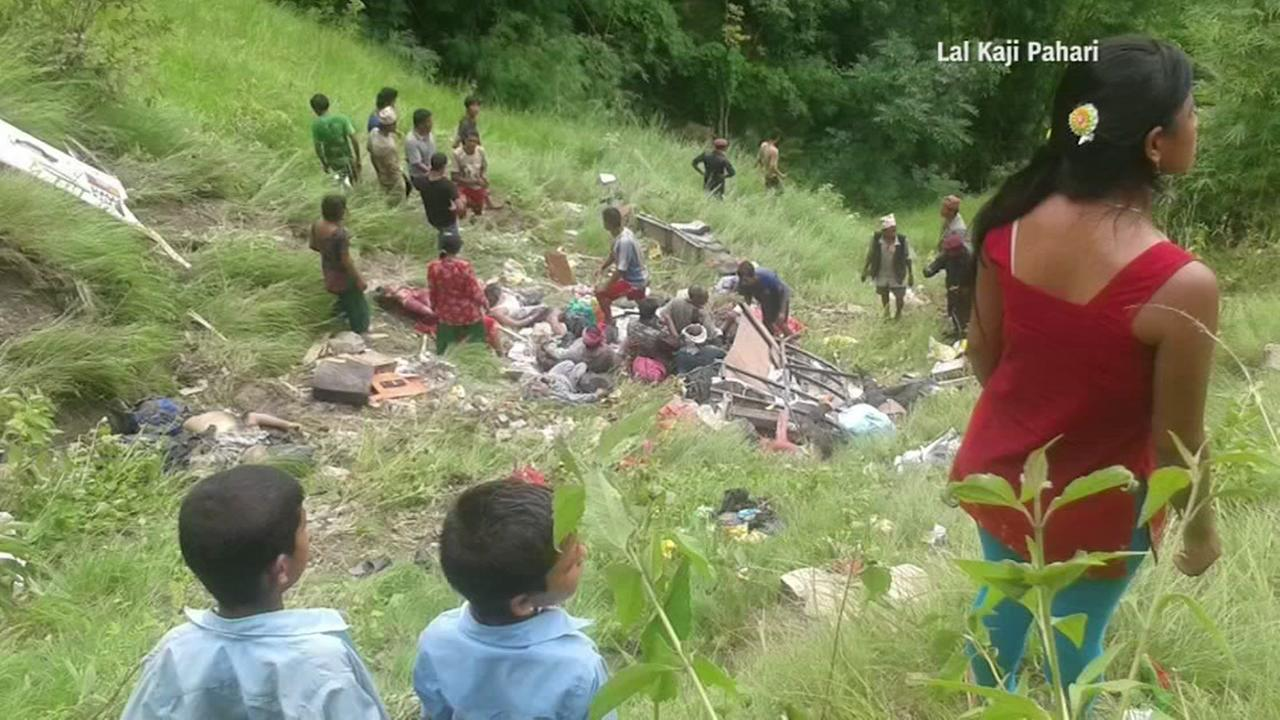 33 killed, 28 injured as crowded bus veers off Nepal mountain highway