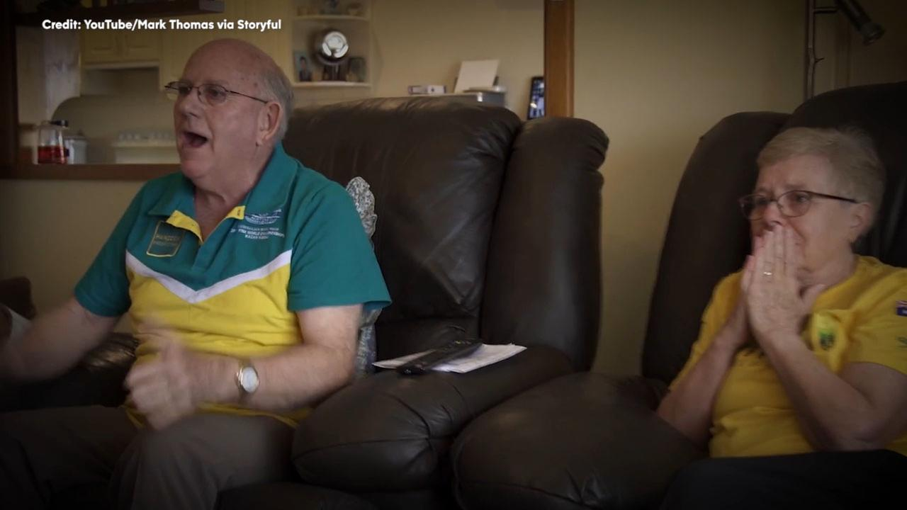 Olympic medalist, Kyle Chalmers grandparents shed tears of joy