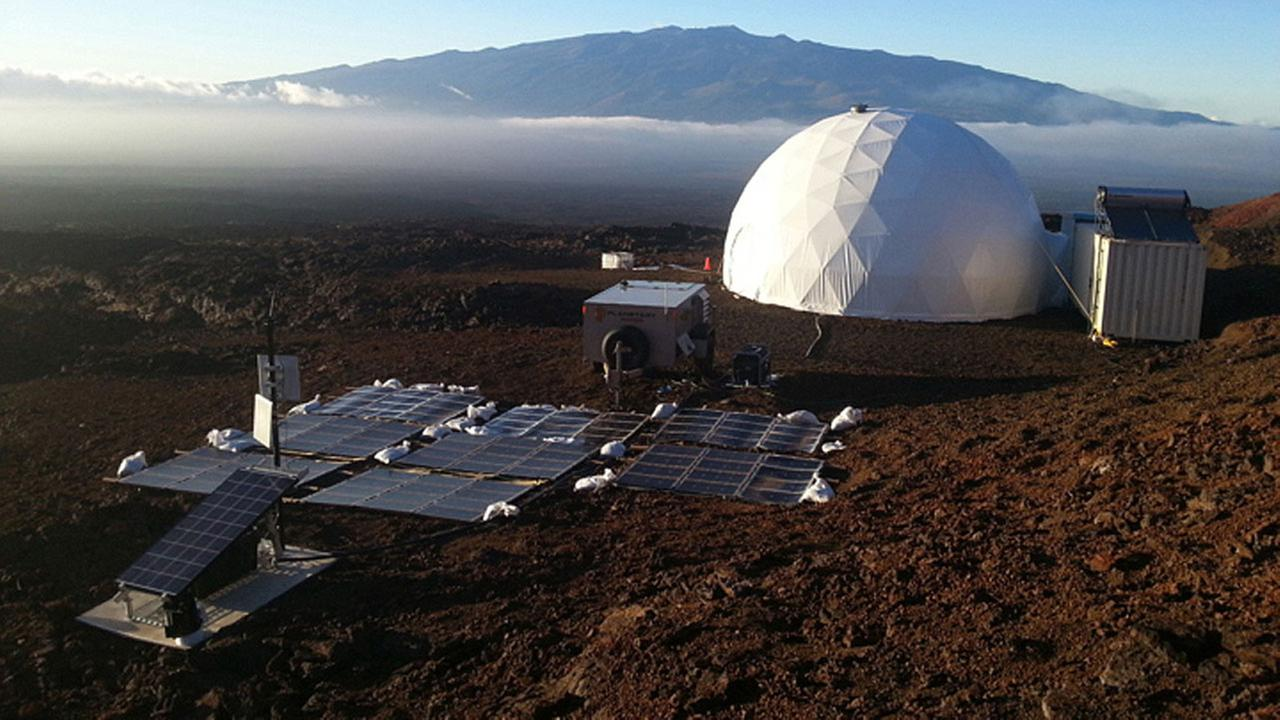 Six scientists spent a year isolated in a domed compound intended to simulate a potential human habitat on Mars.