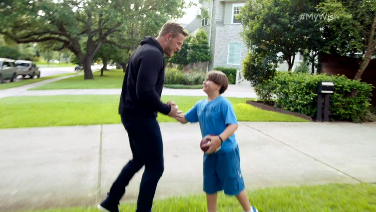 Texans star JJ Watt and Young cancer patient profiled in my wish series