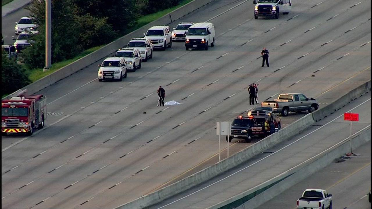 Auto ped on North Freeway