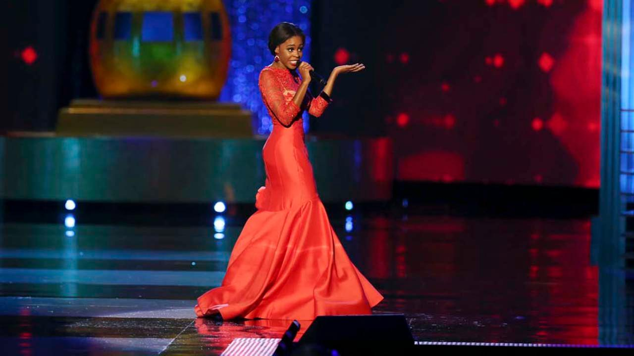 Miss New York Camille Sims, performs during the Miss America 2017 pageant, Sunday, Sept. 11, 2016, in Atlantic City, N.J. (AP Photo/Mel Evans)AP