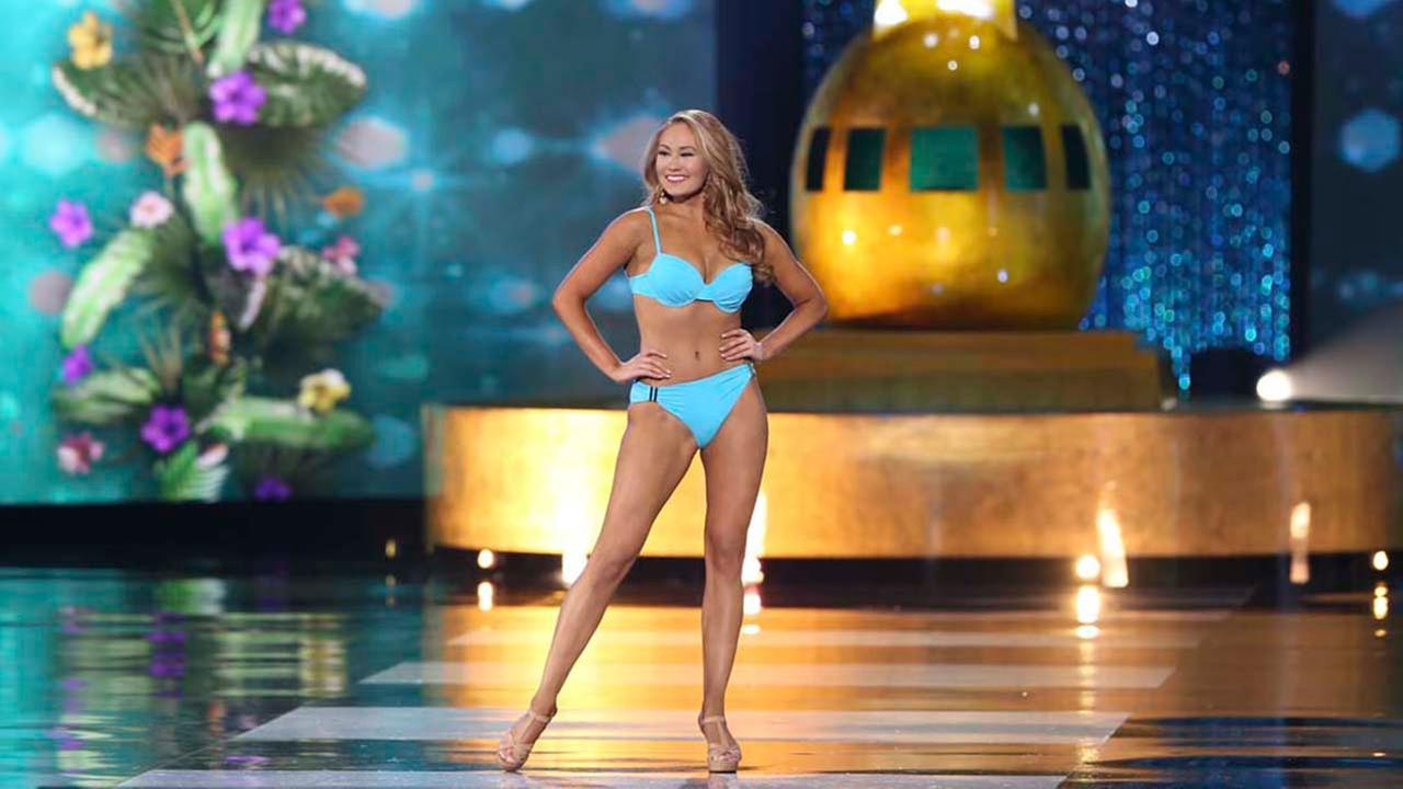 Miss Idaho Kylee Solberg performs in a swimsuit during the Miss America 2017 pageant, Sunday, Sept. 11, 2016, in Atlantic City, N.J. (AP Photo/Mel Evans)AP