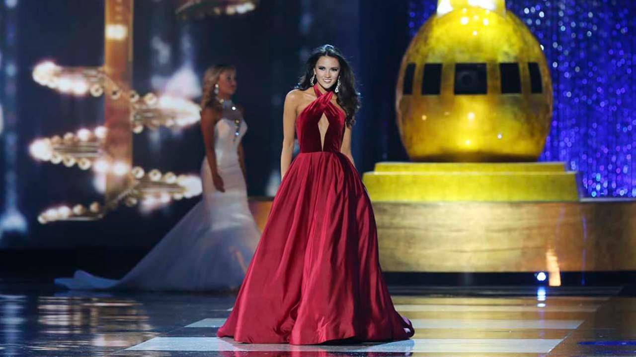 Miss Maryland Hannah Brewer, competes during the Miss America 2017 pageant, Sunday, Sept. 11, 2016, in Atlantic City, N.J. (AP Photo/Mel Evans)AP