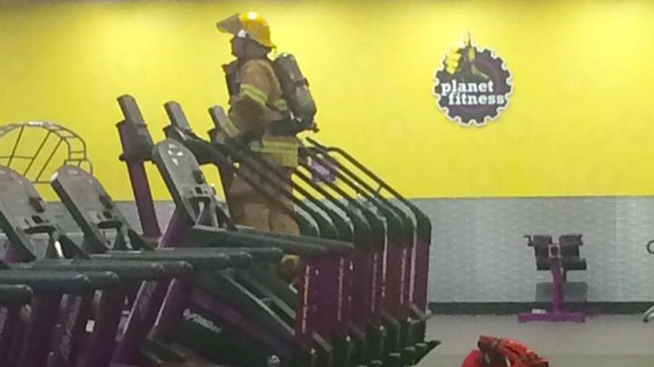 Viral photo reveals firefighter's touching stair stepper memorial
