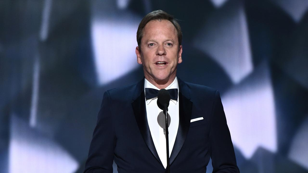 Kiefer Sutherland is back on TV on the seasons most buzzworthy show, abcs Designated Survivor. Check him out as the accidental President Tom Kirkman.