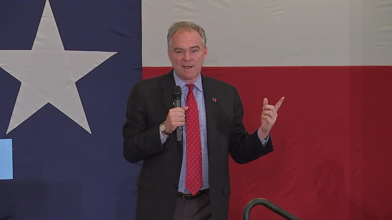 Tim Kaine in Houston