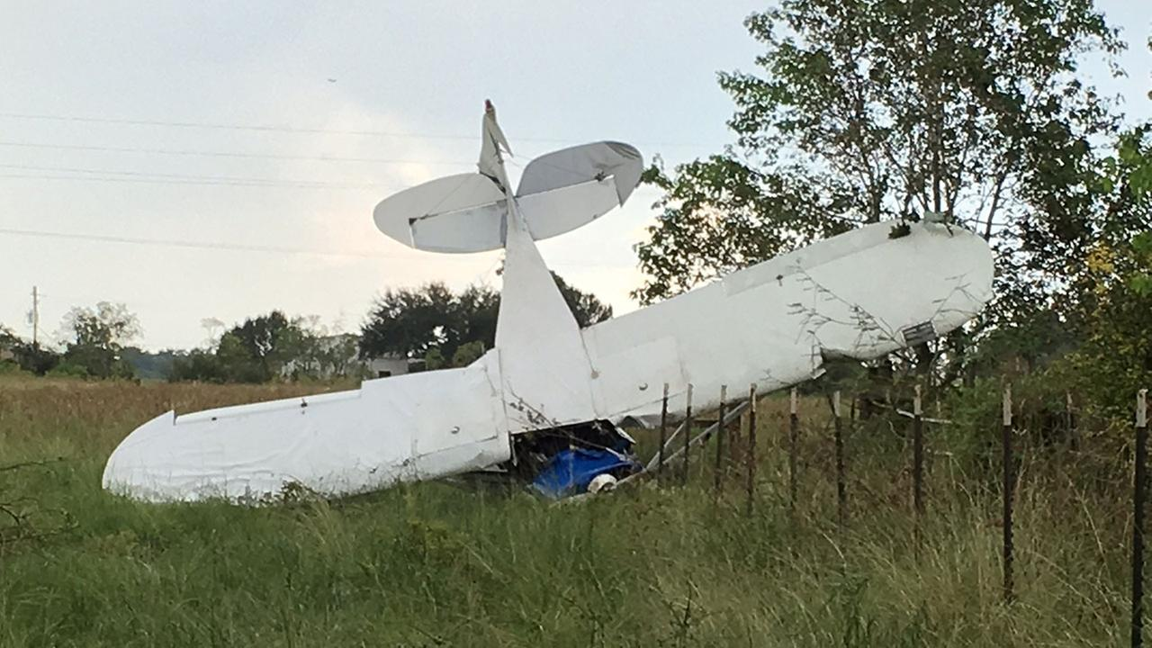 Plane crash in Brazoria County