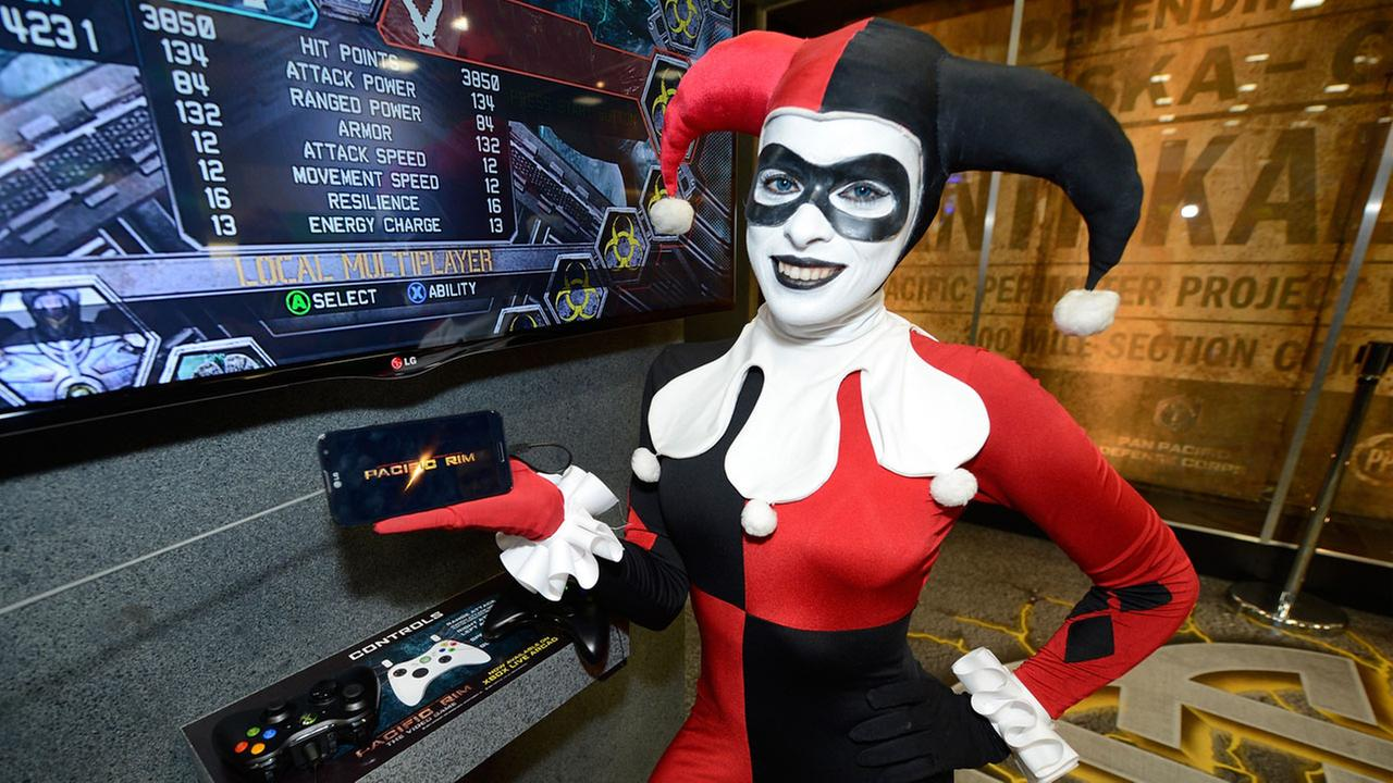 The infamous Harley Quinn character from Batman at the Legendary Entertainment booth at Comic-Con International 2013.Jeff Bottari/Invision for LG/AP Images